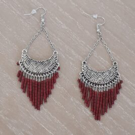 boucles perles rocaille